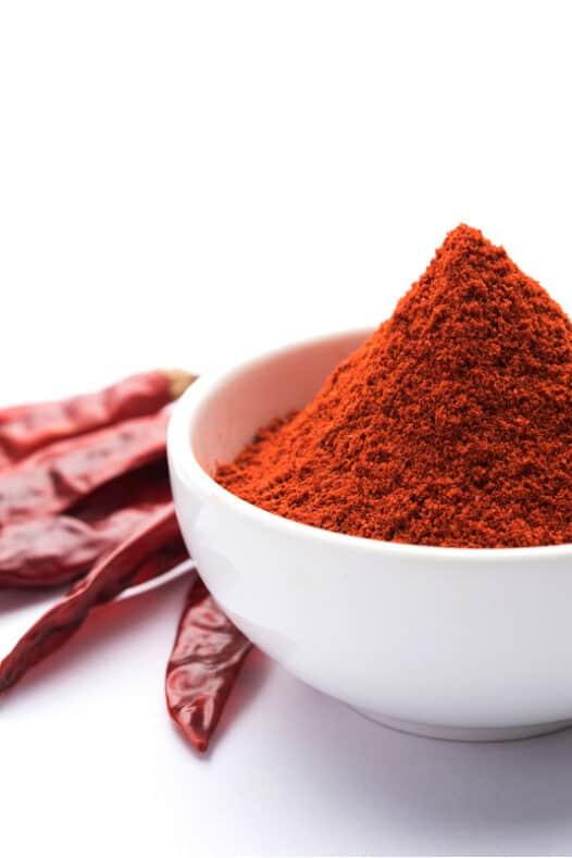 A bowl of paprika powder