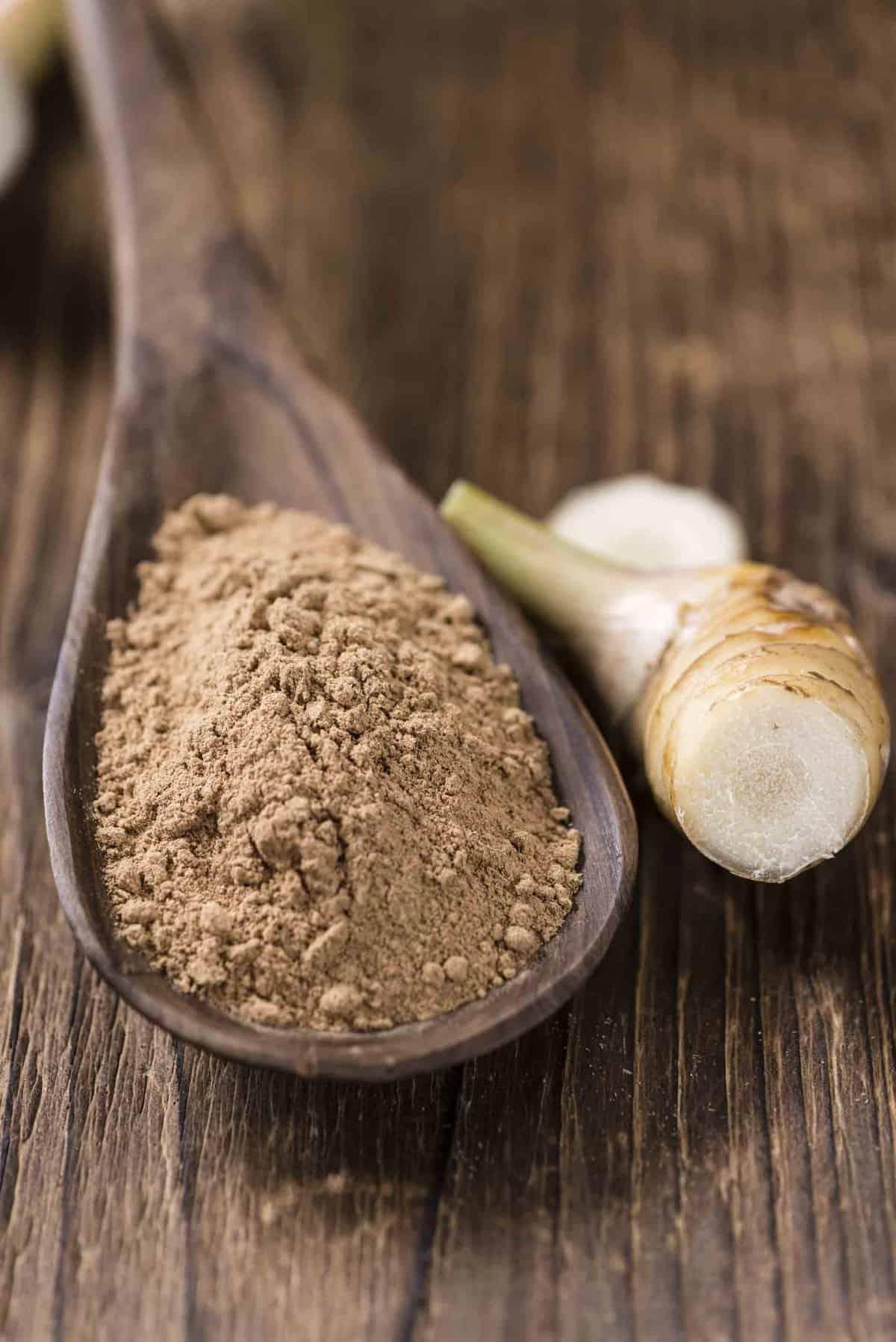 Brown galangal powder