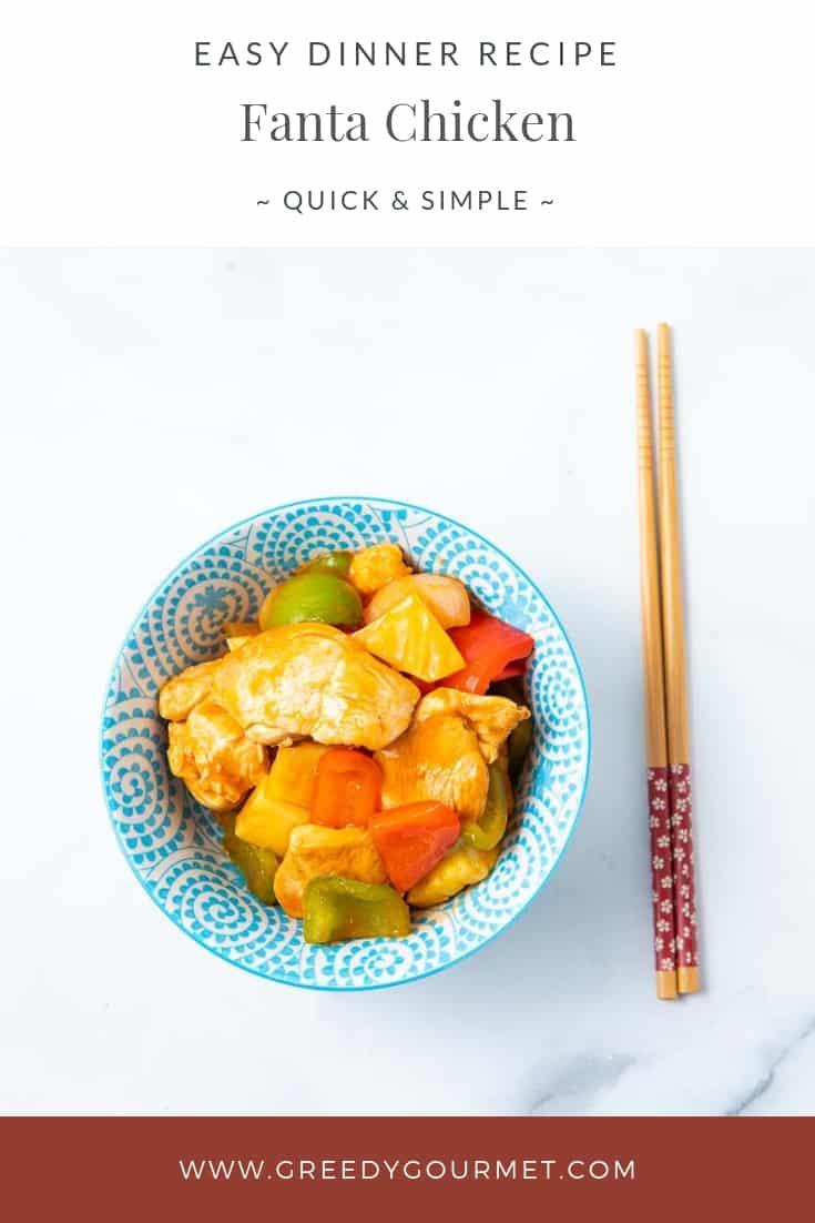 Bowl of fanta chicken