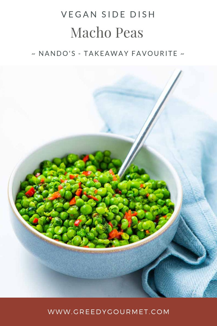 Bowl of green macho peas