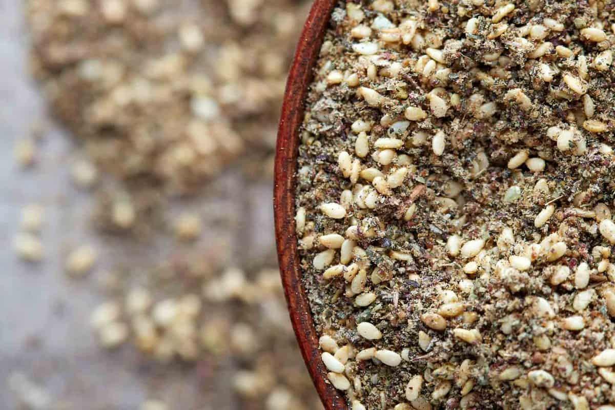Bowl of brown zatar