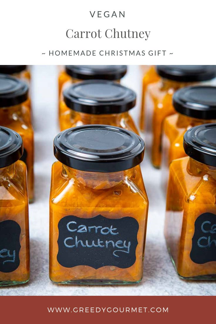 Jars of carrot chutney