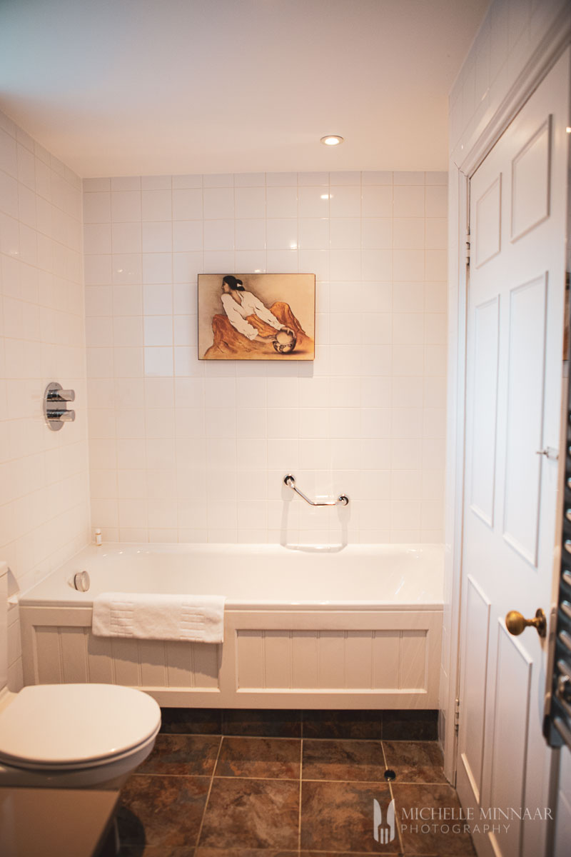 A white bathroom
