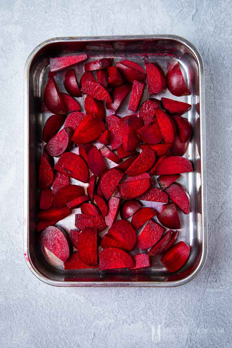Beetroot in a pan