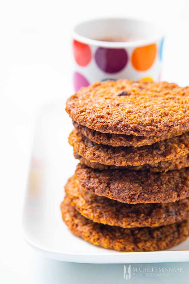 Stack of Vegan Oat Cookies