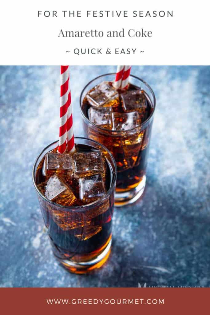 Two glasses of amaretto and coke