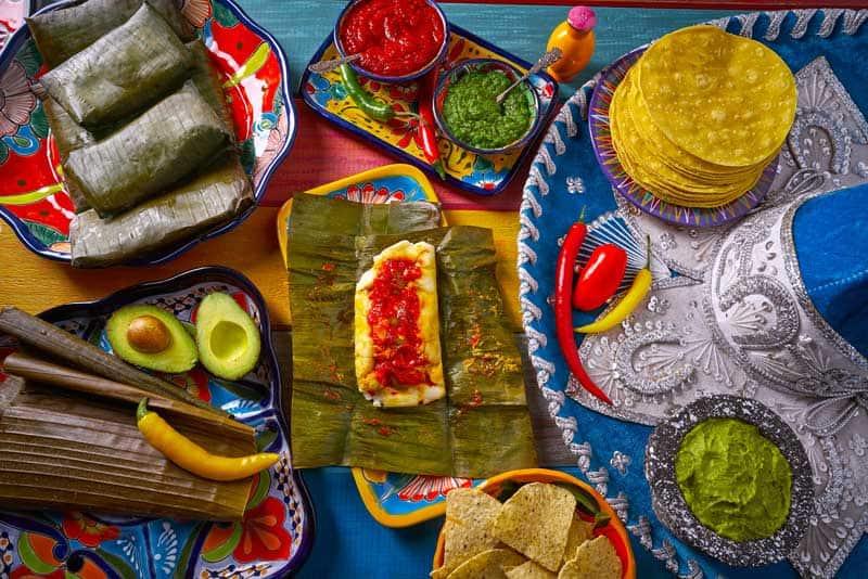 Full mexican buffet