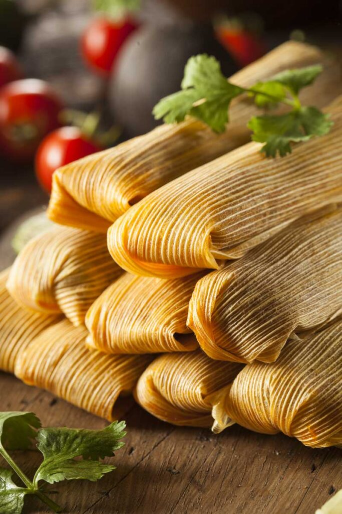 Stack of Tamales