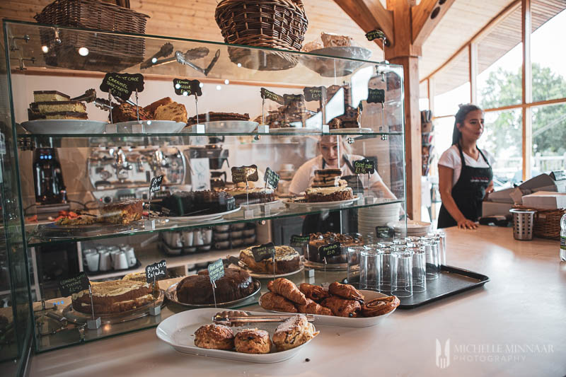 Pastries in a bakery