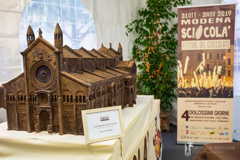 Piazza Matteotti made out of chocolate.