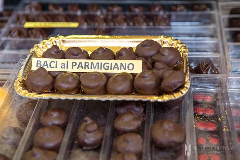 Parmigiano Reggiano chocolate truffles.