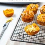 Juicer pulp muffins on a cooling rack
