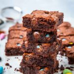Stack of chocolate brownies