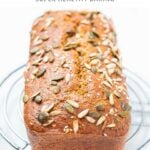 Loaf of baked chia bread with seeds