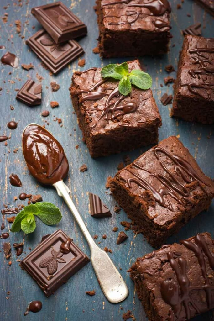 Whole chocolate brownie sqaures