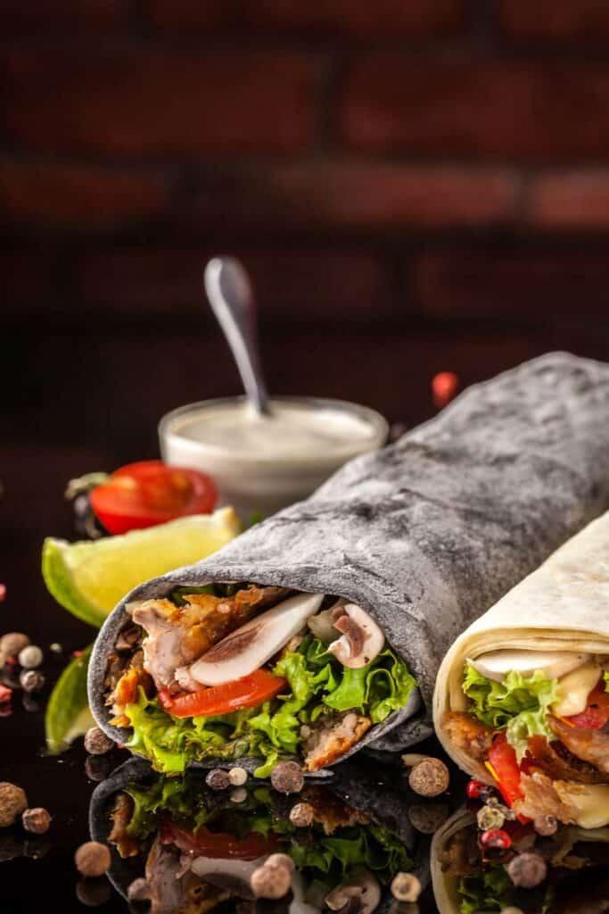 Two burritos to show you how to reheat a burrito
