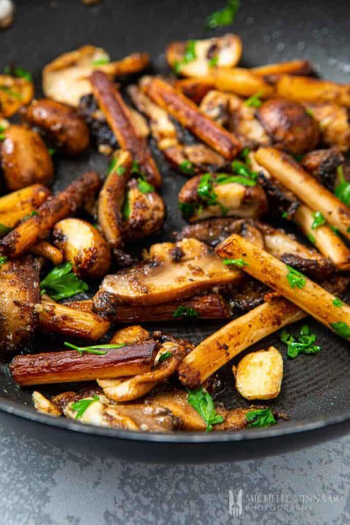 Close up of mushrooms