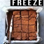 How to freeze brownies