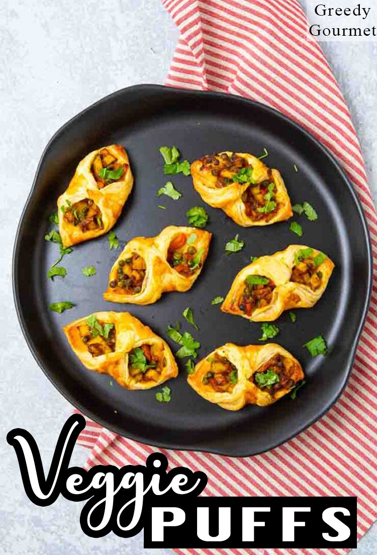Veggie Puffs - A Vegan Indian Snack