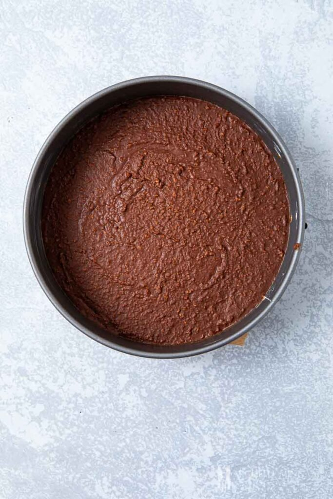 Chocolate biscuits in a pan