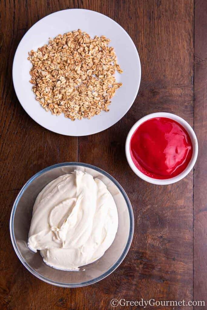 Ingredients to make burns night pudding