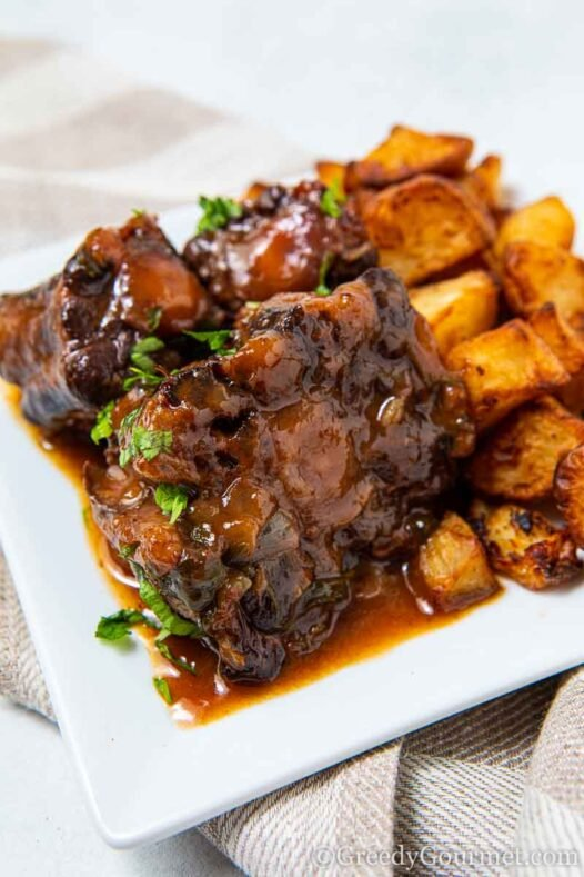 Plate of spanish oxtail tapas recipe