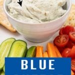 Bowl of blue cheese dip