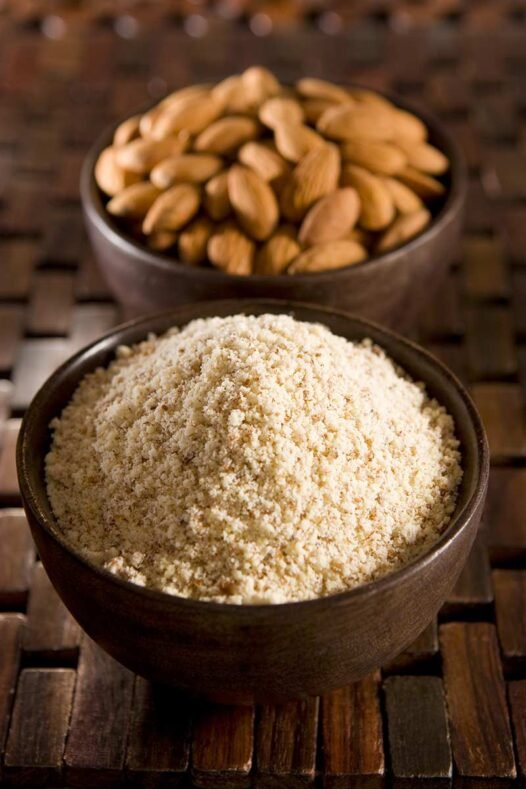 Close up of almond meal