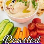Bowl of creamy roasted eggplant dip