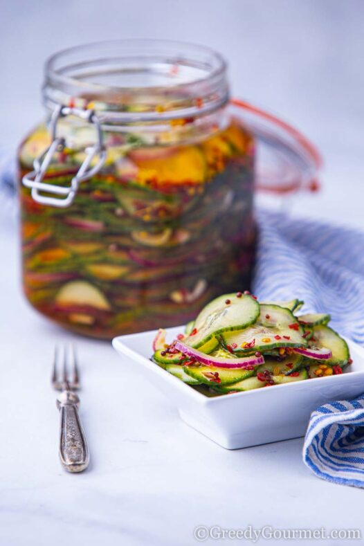 Learning how to make sweet pickled cucumber recipe