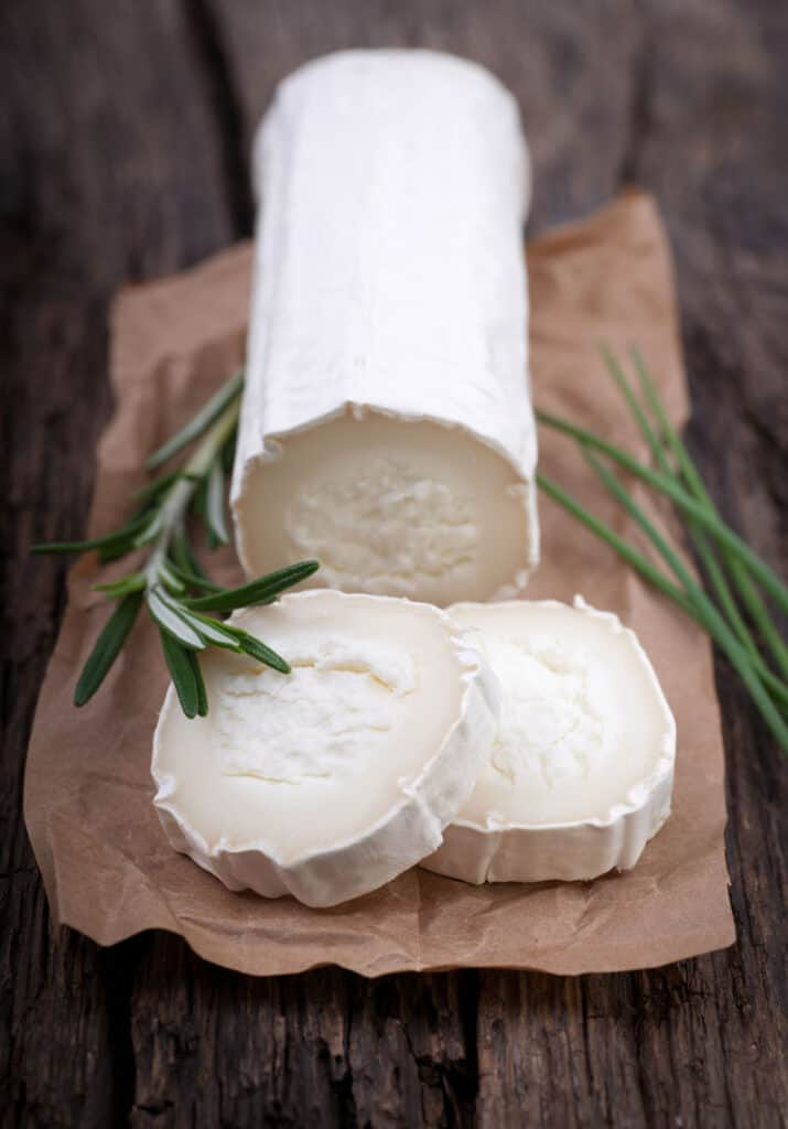 Sliced goat cheese to see if you can freeze goat cheese